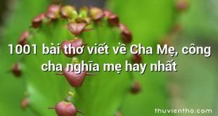 1001 bài thơ viết về Cha Mẹ, công cha nghĩa mẹ hay nhất