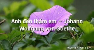 Anh đến thăm em  –  Johann Wolfgang von Goethe