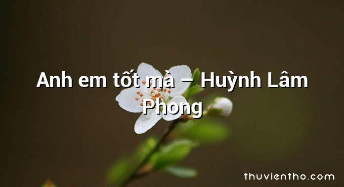 Anh em tốt mà – Huỳnh Lâm Phong
