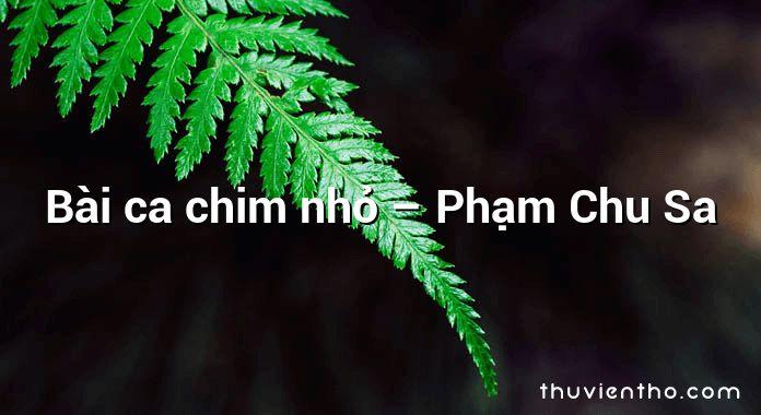 Bài ca chim nhỏ  –  Phạm Chu Sa