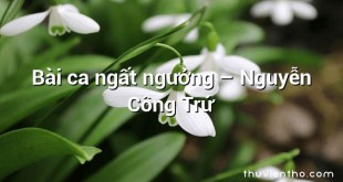 Bài ca ngất ngưởng – Nguyễn Công Trứ