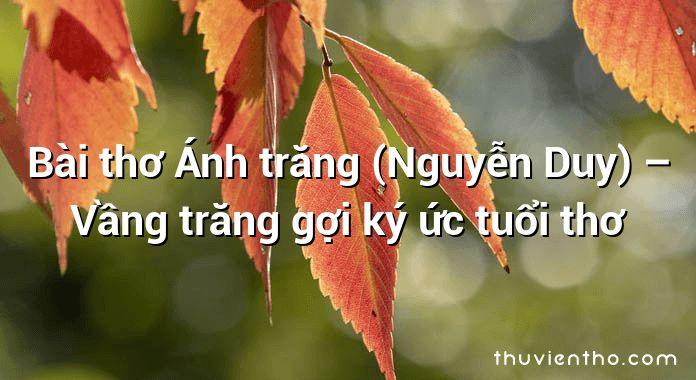 Bài thơ Ánh trăng (Nguyễn Duy) – Vầng trăng gợi ký ức tuổi thơ