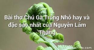 Bài thơ Chú Gà Trống Nhỏ hay và đặc sắc nhất của Nguyễn Lãm Thắng