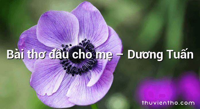 Bài thơ đầu cho mẹ – Dương Tuấn