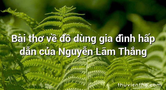 Bài thơ về đồ dùng gia đình hấp dẫn của Nguyễn Lãm Thắng