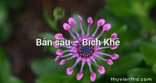 Bán sầu – Bích Khê
