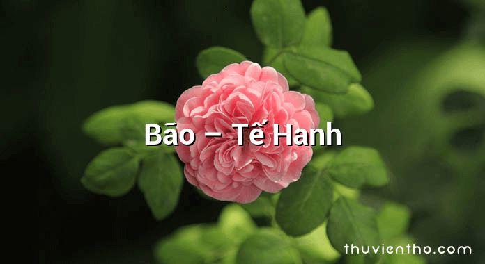 Bão – Tế Hanh