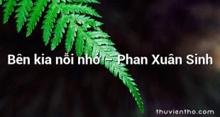 Bên kia nỗi nhớ  –  Phan Xuân Sinh