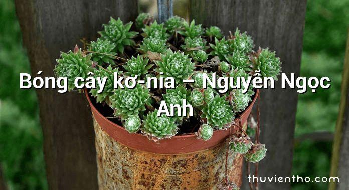 Bóng cây kơ-nia – Nguyễn Ngọc Anh