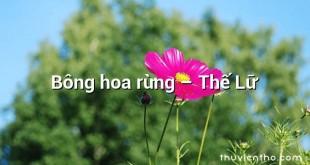 Bông hoa rừng – Thế Lữ