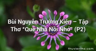 """Bùi Nguyễn Trường Kiên – Tập Thơ """"Quê Nhà Nỗi Nhớ"""" (P2)"""