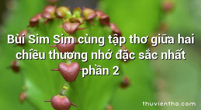 Bùi Sim Sim cùng tập thơ giữa hai chiều thương nhớ đặc sắc nhất phần 2