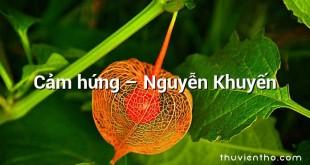 Cảm hứng – Nguyễn Khuyến