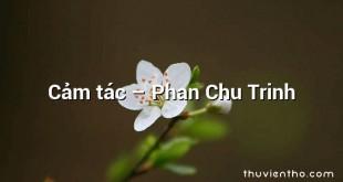 Cảm tác – Phan Chu Trinh