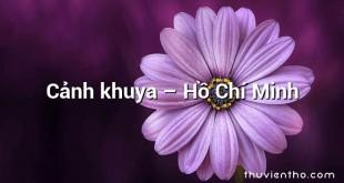 Cảnh khuya – Hồ Chí Minh