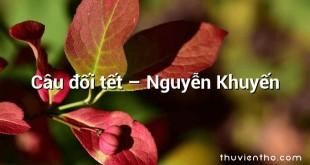 Câu đối tết – Nguyễn Khuyến
