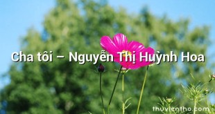 Cha tôi  –  Nguyễn Thị Huỳnh Hoa