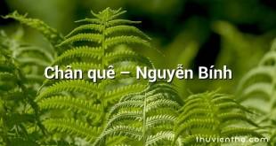 Chân quê – Nguyễn Bính