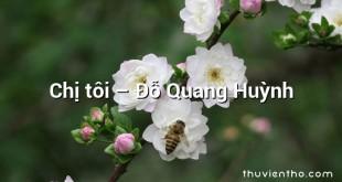 Chị tôi  –  Đỗ Quang Huỳnh