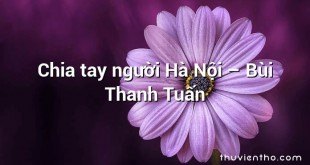 Chia tay người Hà Nội – Bùi Thanh Tuấn