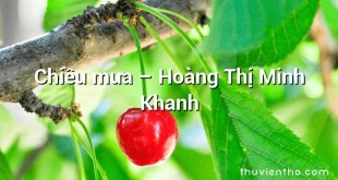 Chiều mưa  –  Hoàng Thị Minh Khanh