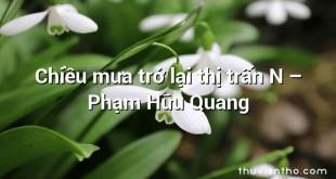 Chiều mưa trở lại thị trấn N  –  Phạm Hữu Quang