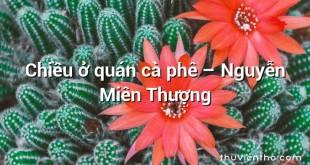 Chiều ở quán cà phê  –  Nguyễn Miên Thượng