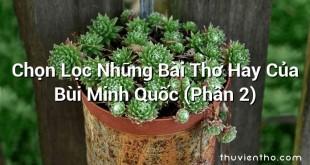 Chọn Lọc Những Bài Thơ Hay Của Bùi Minh Quốc (Phần 2)