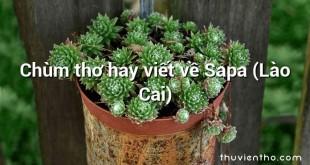 Chùm thơ hay viết về Sapa (Lào Cai)