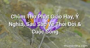 Chùm Thơ Phật Giáo Hay, Ý Nghĩa, Sâu Sắc Về Thói Đời & Cuộc Sống