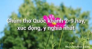 Chùm thơ Quốc khánh 2-9 hay, xúc động, ý nghĩa nhất