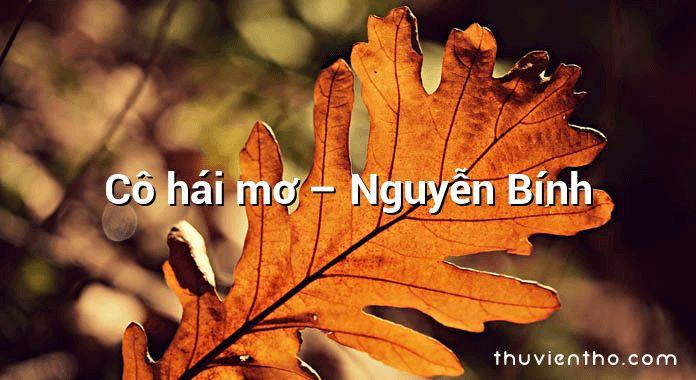 Cô hái mơ – Nguyễn Bính