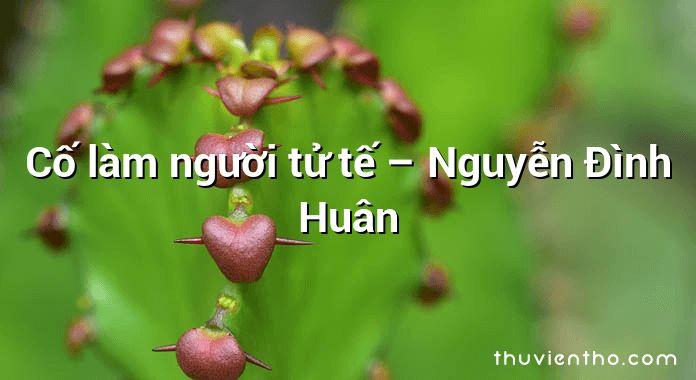 Cố làm người tử tế – Nguyễn Đình Huân