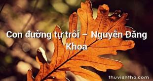 Con đường tự trôi  –  Nguyễn Đăng Khoa