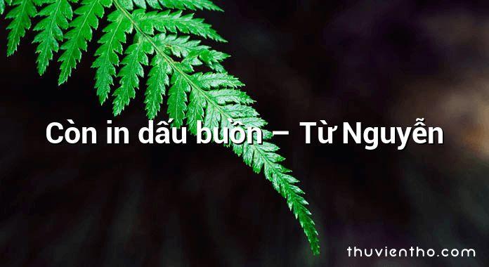 Còn in dấu buồn – Từ Nguyễn