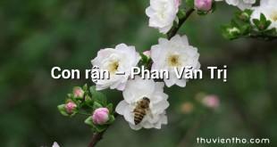 Con rận – Phan Văn Trị