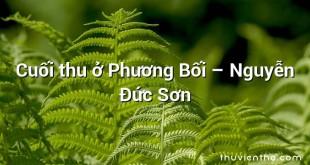 Cuối thu ở Phương Bối  –  Nguyễn Đức Sơn