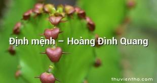 Định mệnh  –  Hoàng Đình Quang