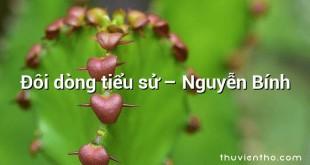 Ðôi dòng tiểu sử – Nguyễn Bính