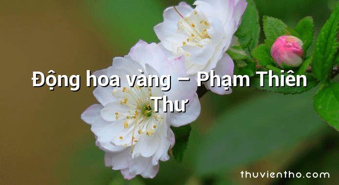 Động hoa vàng – Phạm Thiên Thư