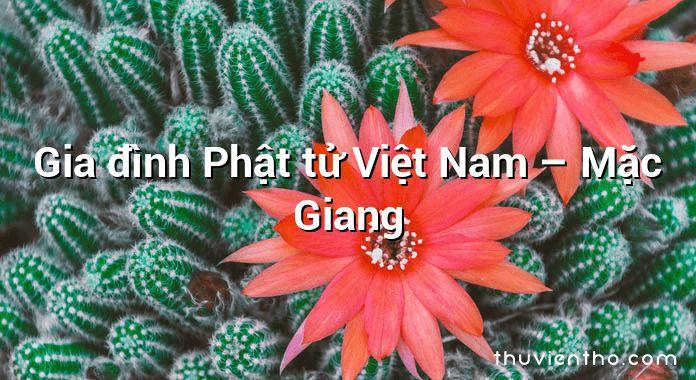 Gia đình Phật tử Việt Nam – Mặc Giang