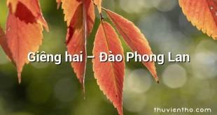 Giêng hai  –  Đào Phong Lan