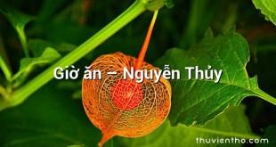 Giờ ăn – Nguyễn Thủy