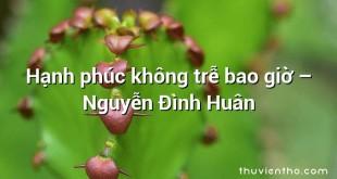 Hạnh phúc không trễ bao giờ – Nguyễn Đình Huân