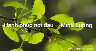 Hạnh phúc nơi đâu – Minh Lương