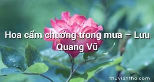 Hoa cẩm chướng trong mưa  –  Lưu Quang Vũ