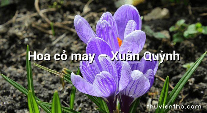 Hoa cỏ may – Xuân Quỳnh