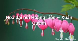 Hoa dại núi Hoàng Liên – Xuân Quỳnh