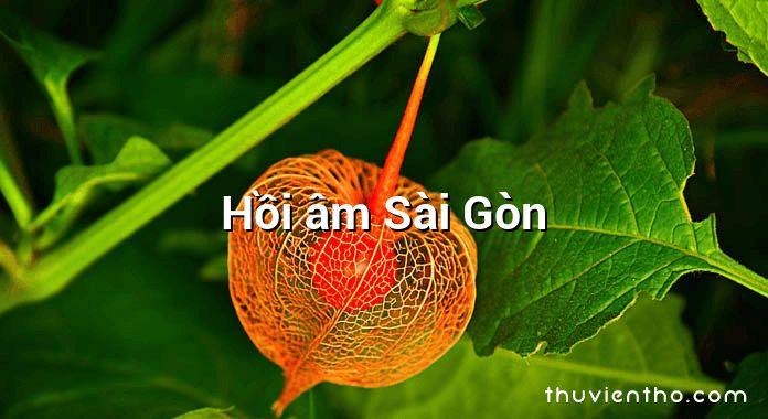 Hồi âm Sài Gòn