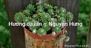Hương dạ lan – Nguyễn Hưng